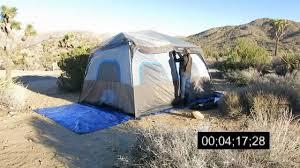 ozark trail 14 u0027 x 10 u0027 instant cabin tent set up youtube