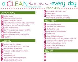 printable house cleaning schedule a clean home everyday checklist idea cleaning pinterest