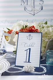 nautical wedding 20 nautical table number holders 10 by oyknot