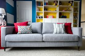 ikea karlstad sofa how to change the legs on an ikea karlstad sofa diy home decor