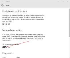 how to set your windows 10 u0027s wi fi connection as metered