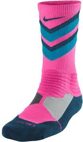 nike sx4923 644 hyper elite basketball mens crew socks pink