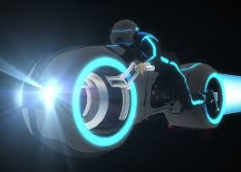 Tron Legacy Light Cycle Tron Legacy Light Cycle With The Rider Animated 3d Model 3d
