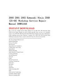 2000 2001 2002 kawasaki ninja zx6 r zx 6r workshop service repair m u2026