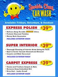 Deep Interior Car Cleaning Sparkle Clean Car Wash Wash Menu