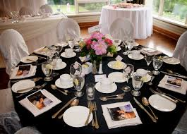glamorous black table decorations for weddings 74 on table
