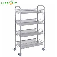 Metal Utility Shelves by Lifewit Supreme Metal Rolling Cart Space Saving 4 Tier Rolling