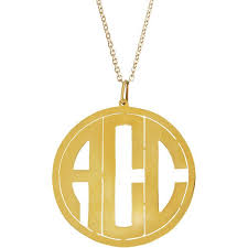 circle monogram necklace monogram necklace gold circle best necklace design 2017
