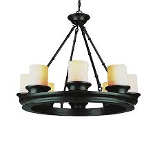 dining room awesome black wagon wheel chandelier with chains and
