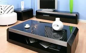 Designer Table Ls Living Room Black Glass Coffee Table In Living Room Living Modern Minimalist
