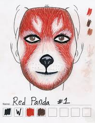 red panda makeup sketch 1 u2014 weasyl
