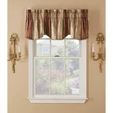 White Window Valance Window Accents Tuscan Stripe Scroll Stripe Jacquards Rod Pocket