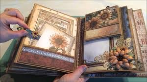 Flip Photo Album Heartfelt Creations 3d Flip Fold Album Classic Sunflower