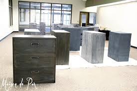 Diy Desk With File Cabinets by How To Give Metal A Brushed Steel Look Maison De Pax