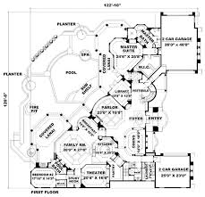 first floor in spanish mediterranean home plans and spanish house floor plans at