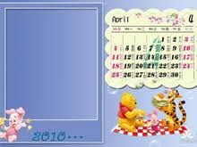 mickey mouse cartoon calendar psd template psd