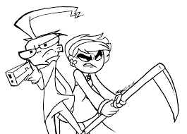 81 billy and mandy coloring page billy and mandy coloring page