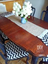 Diy Wood Dining Table Top by Refinishing A Dining Table Diy Beautify