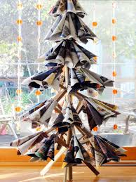christmas christmas tree books diy the art of up cycling recycled magazine crafts ideas to inspire