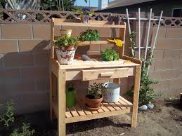 Garden Potting Bench Garden Potting Table With Storage U2013 Outdoor Decorations