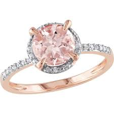 gemstone wedding rings sofia b 10k gold morganite ring with diamond accents