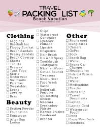 travel packing list images Jordan hebl packing list for a beach vacation free printable jpg