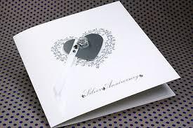 anniversary card silver wedding