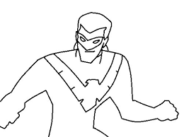 nightwing coloring pages nightwing robin coloring 11645