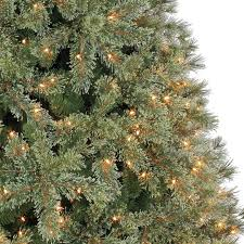 artificial christmas tree 7 5 ft pre lit jasper artificial christmas tree clear