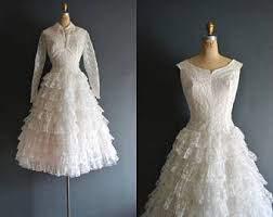 50 s wedding dresses 50s wedding dress etsy