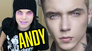 andy biersack with blonde hair andy biersack s worst fans feat andy s dad youtube