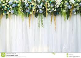 wedding backdrop of flowers beautiful backdrop flowers white fabric stock photos image