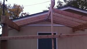 Build An Awning Over Patio by Building A Patio Cover Patio Cover Installation Part 1 Youtube