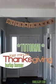 burlap thanksgiving banner tutorial last minute sided thanksgiving burlap banner