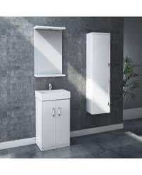 high gloss modern white floor standing unit bathroom cabinet