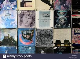 photo album sleeves faded vinyl records pop and rock vintage album sleeves