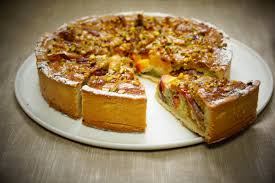 recette de la tarte aux pêches jaunes et pistaches avec pâte maison
