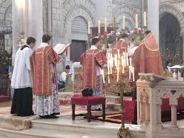 icrsp france saturday 14 october the first mass of canon bertrand