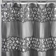 curtain decor metallic silver glitter shower curtain sequin bathroom decor shiny