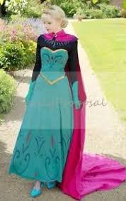 Elsa Halloween Costume Adults Elsa Coronation Dress Halloween Costume Disney Frozen