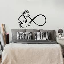 infinity wall decal etsy anchor infinity wall decal nautical stickers bedroom nursery bathroom kids room