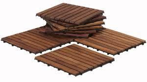 Teak Patio Flooring by Bare Decor Ez Floor Interlocking Flooring Tiles In Solid Teak Wood