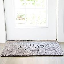 Wipe Your Paws Footprint Doormat Amazon Com Dog Gone Smart Dirty Dog Doormat Large Khaki