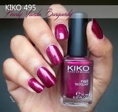 pinezoe blog nail art kiko 495 u2022 pearly vanda burgundy nails