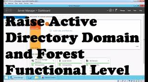 raise active directory domain and forest functional level windows