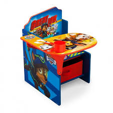 kids table chair paw patrol storage bin craft drawing