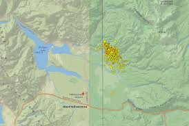 Map Of Montana And Wyoming by Did You Feel It Yellowstone Earthquake Swarm Not A Sign Of