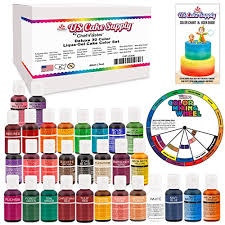 30 food color primary secondary u0026 neon us cake supply by import