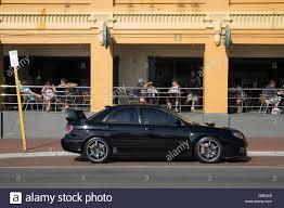 subaru japanese subaru wrx japanese sports car parked outside the cottesloe beach
