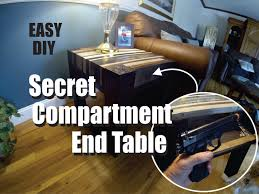 Plans To Build End Tables by How To Build An End Table With A Secret Hidden Compartment Great